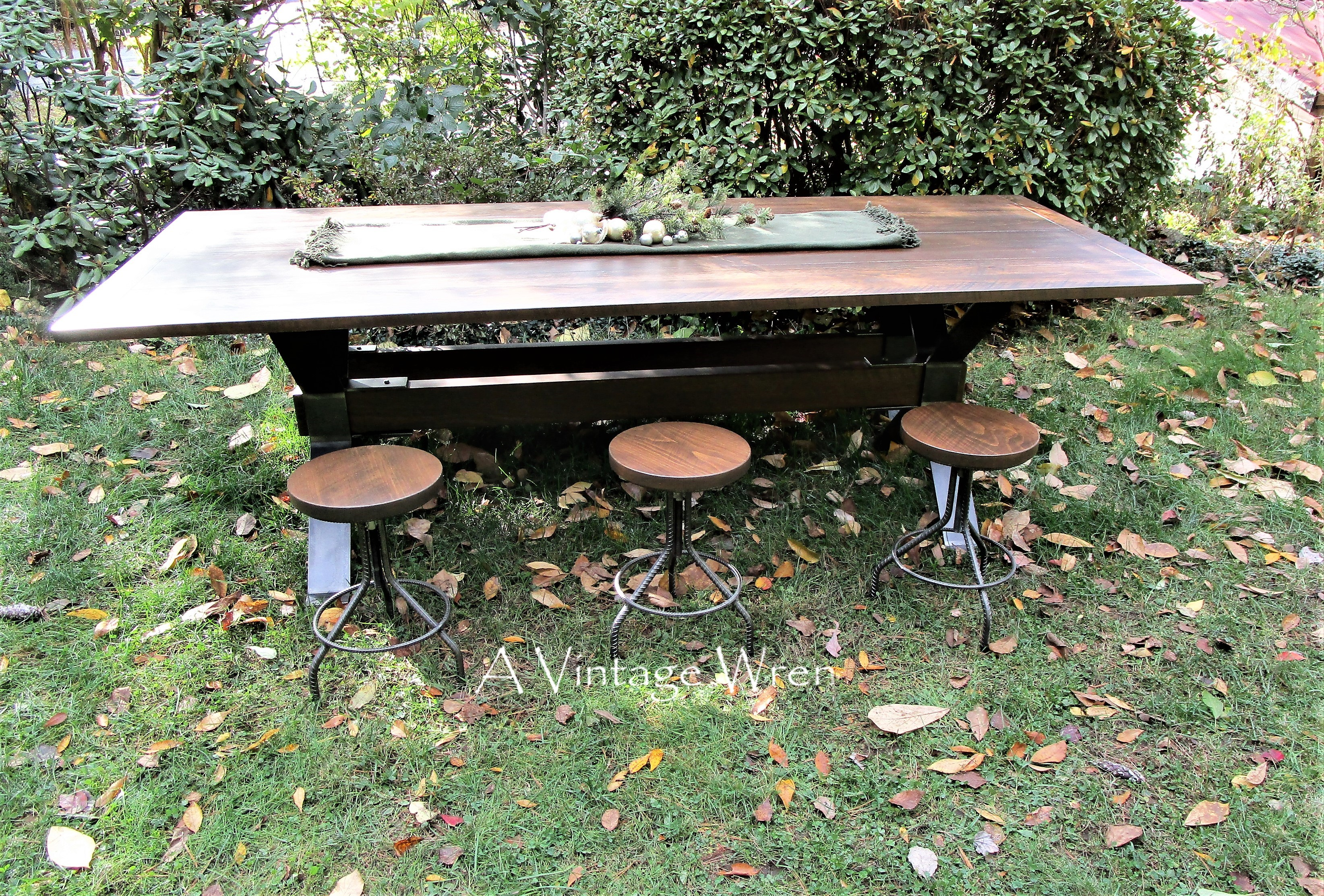 Industrial Dining Table for 8