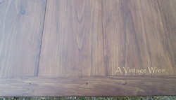 Walnut stained top