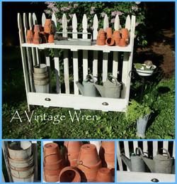 Picket fence potting bench