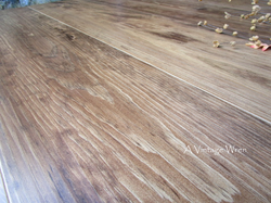 Hand Planed table top surface