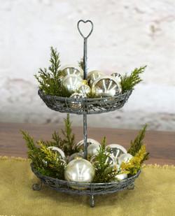 Farmhouse Christmas Tiered Tray