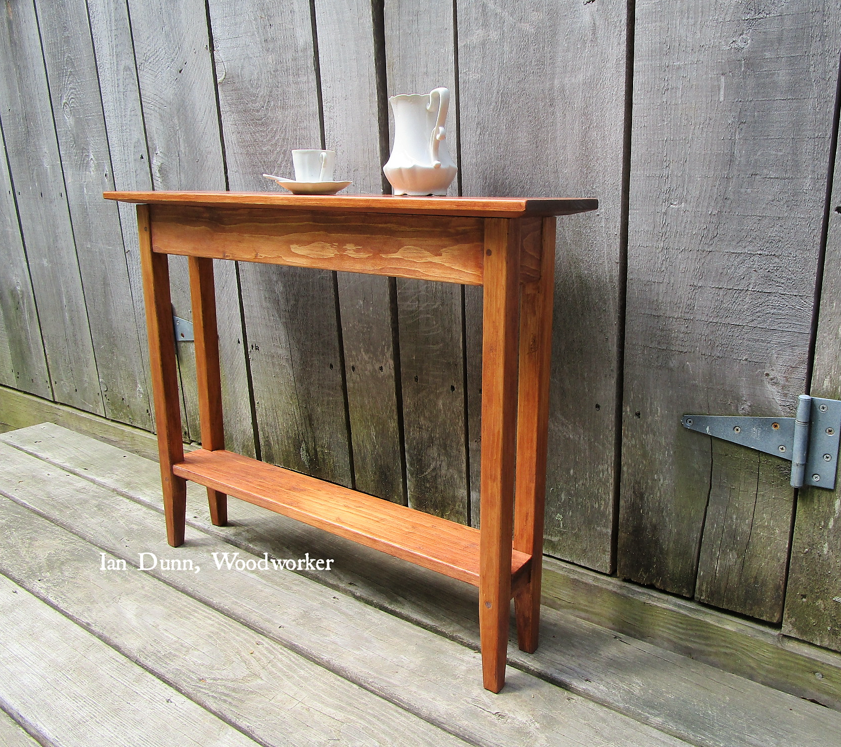 Narrow Hall Table with Shelf