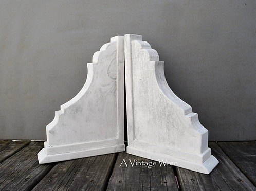 Handmade in the USA Pair of Large Wood Corbels / Antique Wooden Corbels