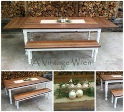 Extendable Dining Farm Table