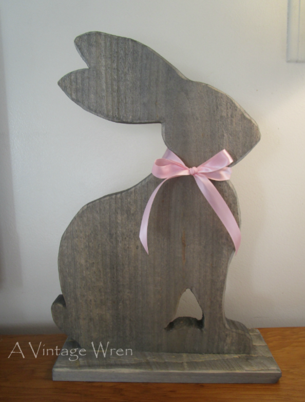 Rustic Wooden Easter Bunny