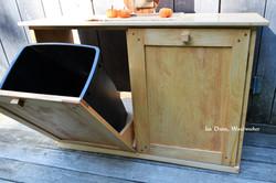 Trash Bin Holder with Tilt Out Doors