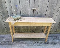 Red Oak Shaker Console Table