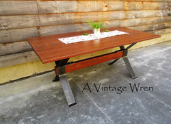 Industrial Dining Table for 6