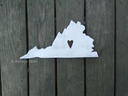 Rustic Virginia sign