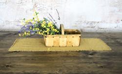 Basket of forsythia and lavender