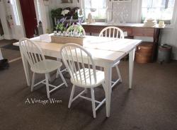 All White Shaker Table