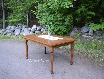 Rustic Red Oak Dining Table