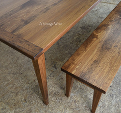 Shaker Table and Bench with breadboard ends