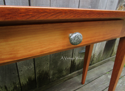 Drawer front on console table
