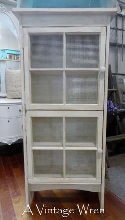 Cabinet with repurposed windows