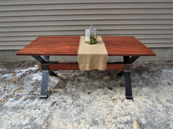Industrial Trestle Dining Table for 4
