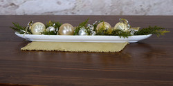Christmas Ornaments in Procelain Tray