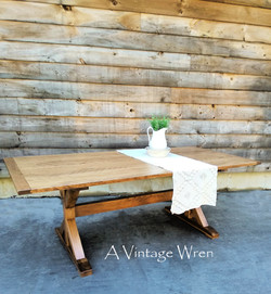Wood X Trestle Dining Table for 8