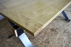Hard Maple Table Top with Breadboard Ends