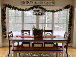 Distressed Farmhouse table for 8