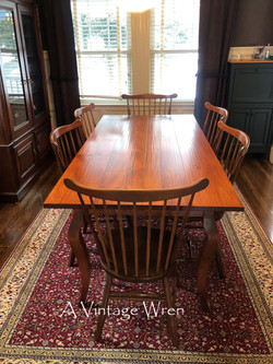 French Country Dining Table for 6