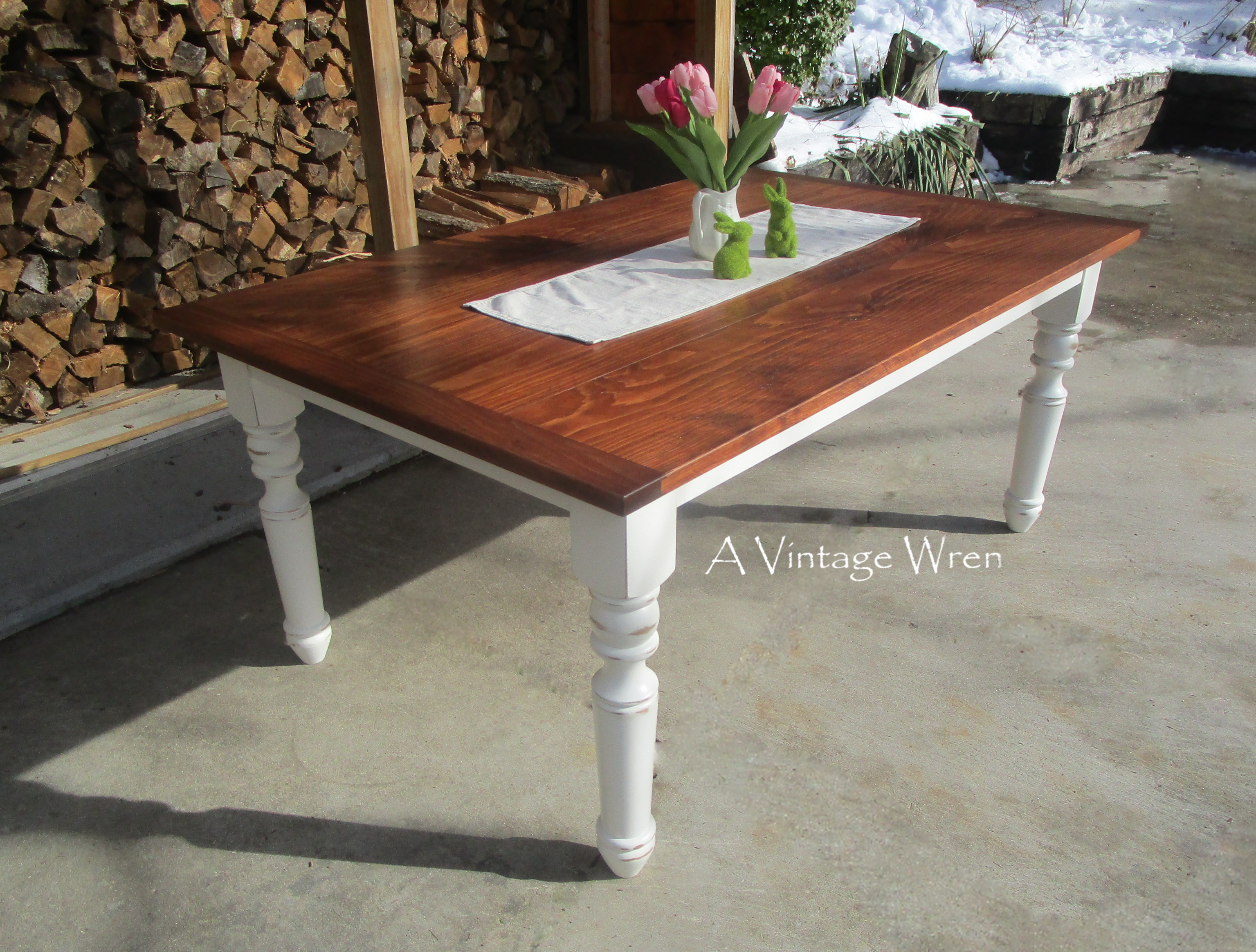 White Farmhouse Table for 6