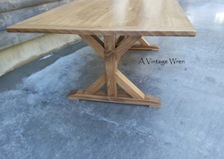 Wood X Table Base constructed with true mortise and tenon joinery