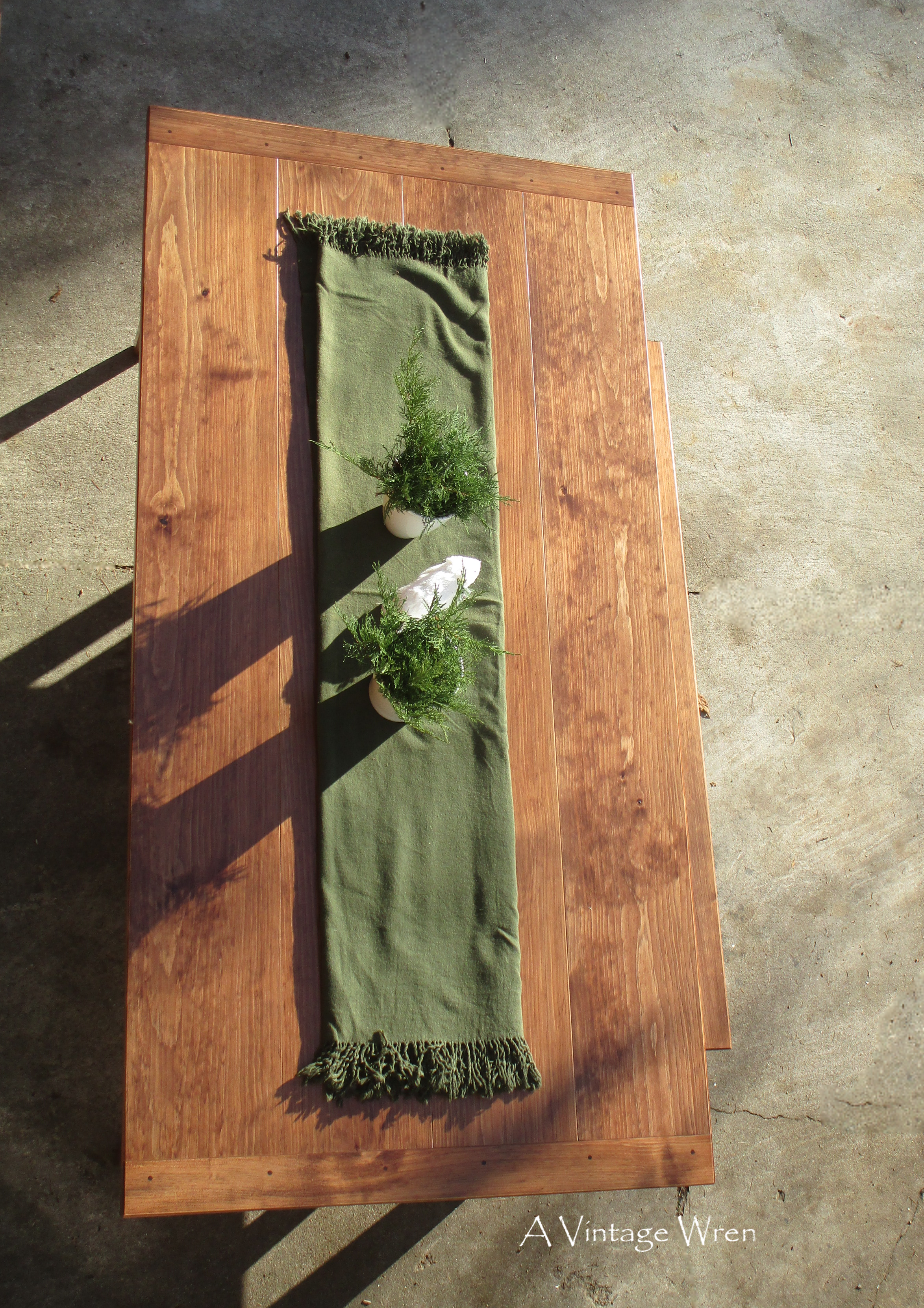 Hand planed table top