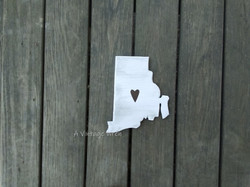 Rhode Island wood sign
