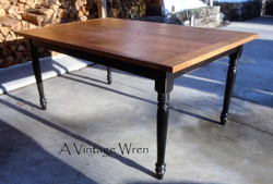Farm Table with distressed black leg