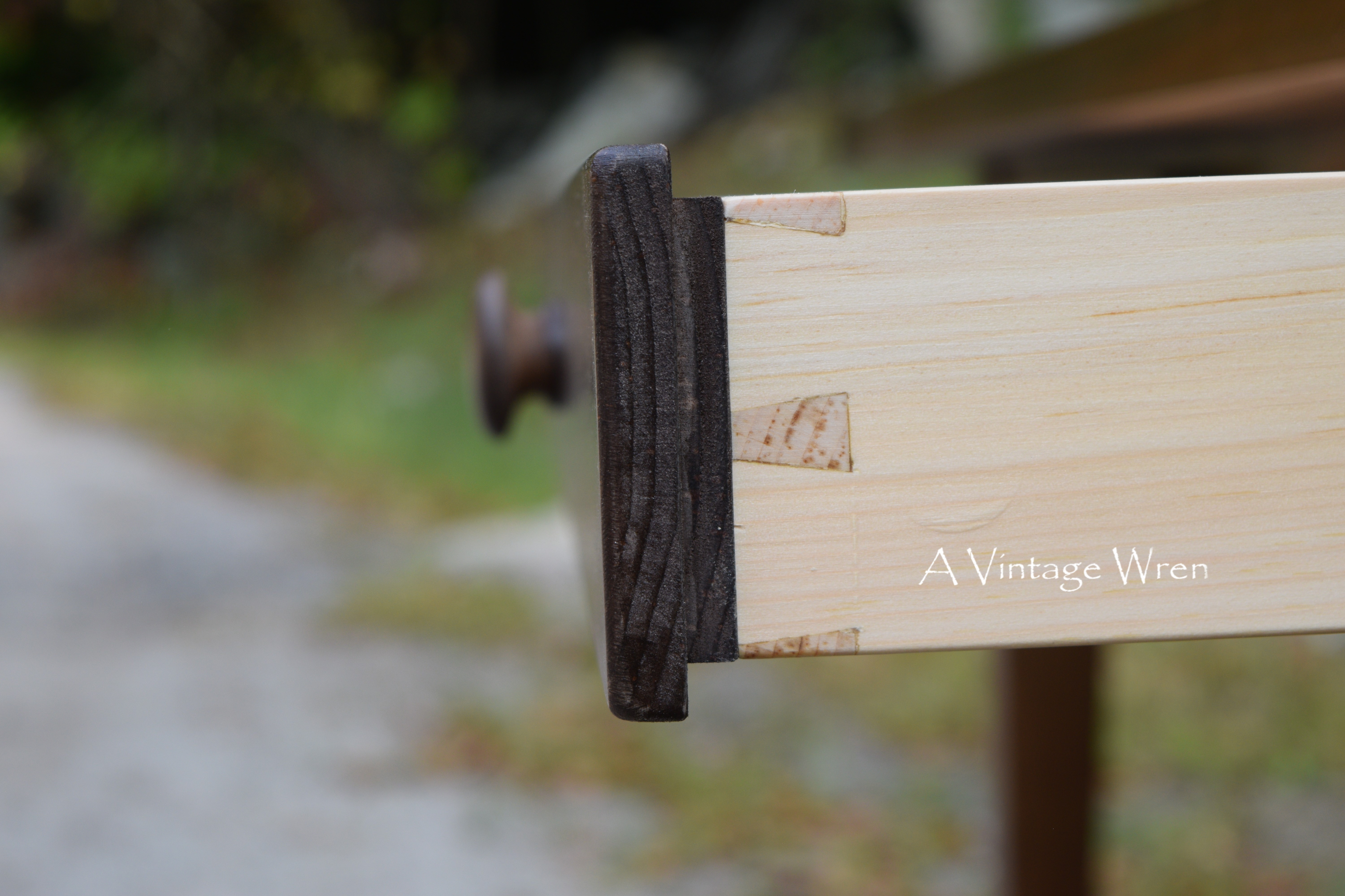 Hand cut dovetailed drawer box