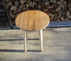 Copper Stitched Side table