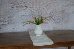 Pink Tulips in Ironstone Pitcher