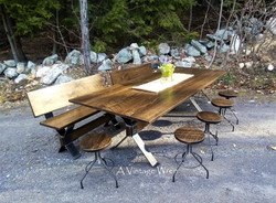 Industrial Dining Table for 10