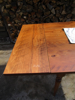 Extensions on dining table