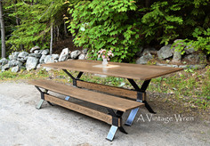 Custom made Industrial Dining Table for 8