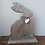 Thumbnail: Handmade in the USA Rustic Easter Bunny/ Wooden Bunny