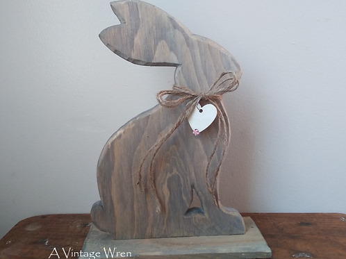 Handmade in the USA Rustic Easter Bunny/ Wooden Bunny