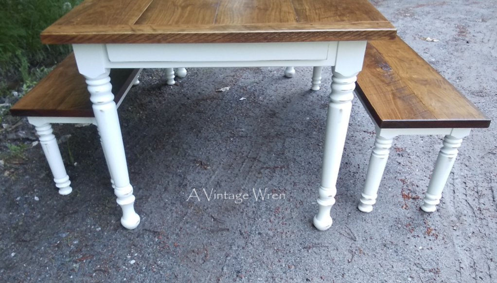 Dining table end view