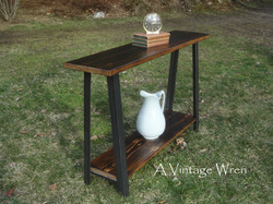 Industrial A Frame Console Table