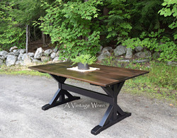 Trestle Dining Table for 6