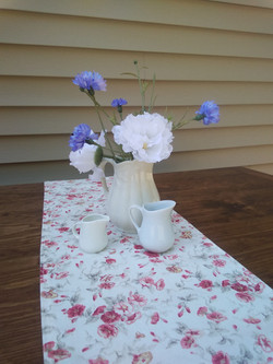 Blue and White Ironstone Pitchers