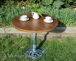 Reclaimed pedestal table