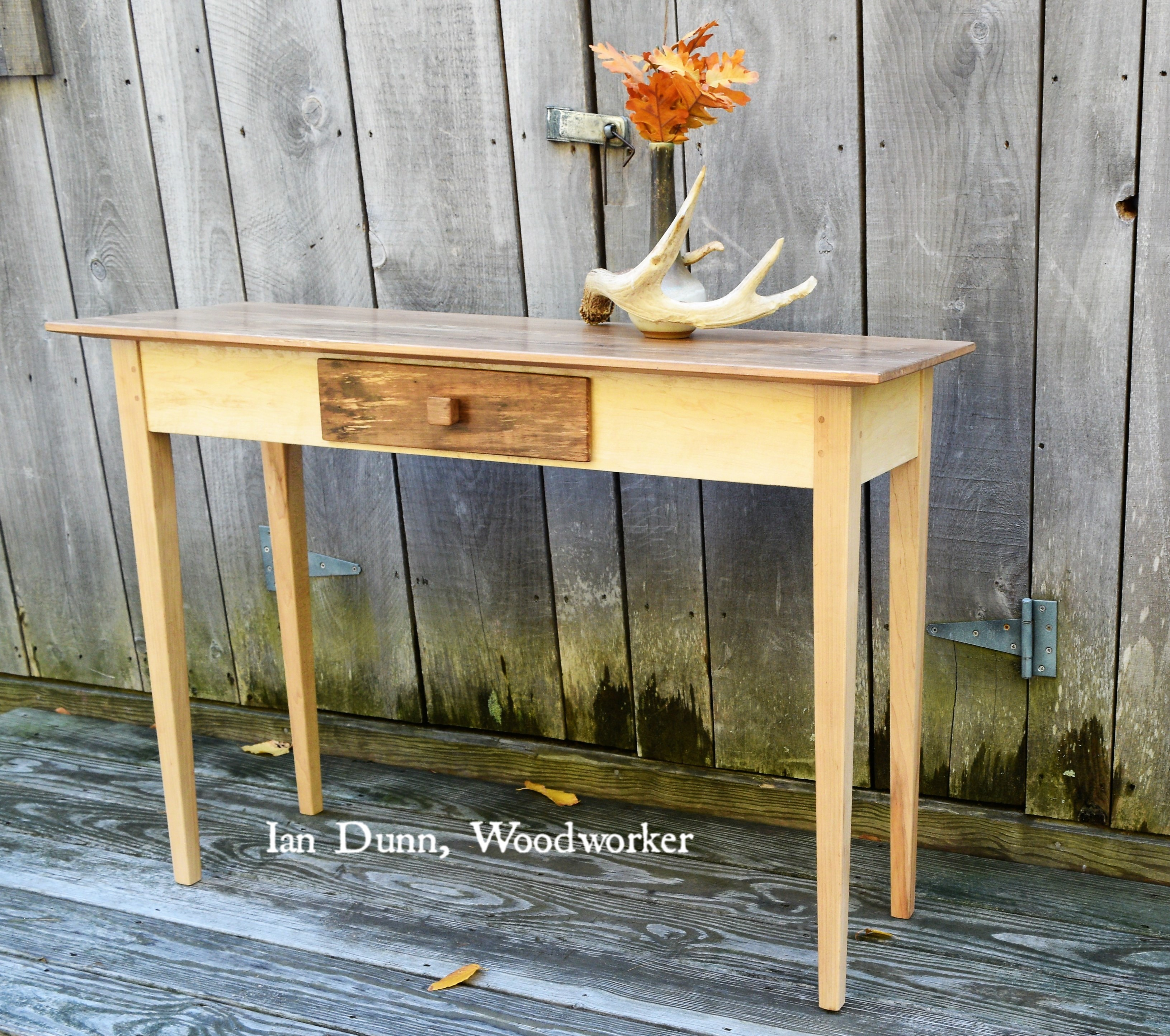 Spalted Maple Shaker Console Table