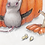 Thumbnail: Cute Halloween Decoration/ Fall art print with Double Mat /Jack o lantern art