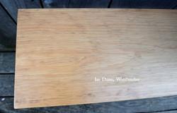 Hand planed Pine top