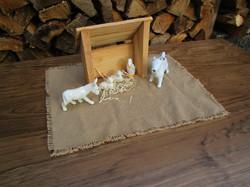 white farmyard animals