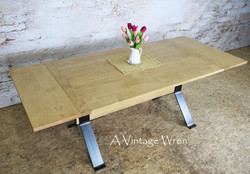 Maple Industrial Dining Table for 8