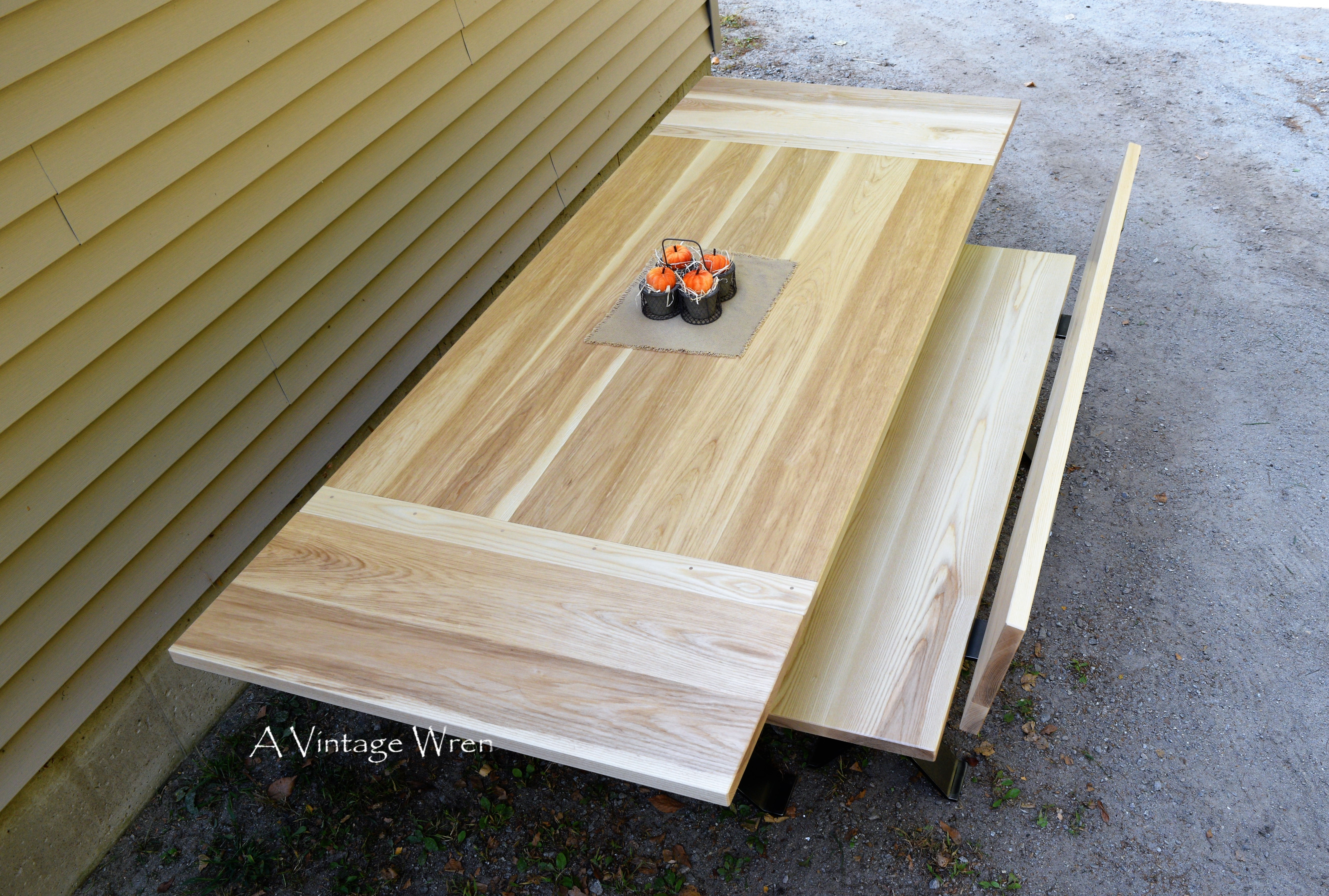Natural White Ash table top and bench