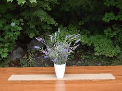 Lavender in white vase